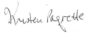 Kristen Paquette Signature